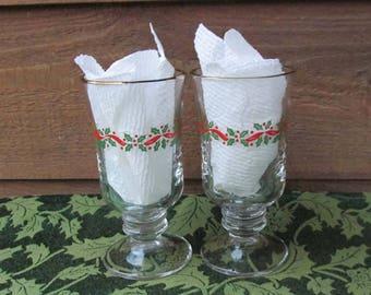 Christmas Mug Set | Holly Glasses