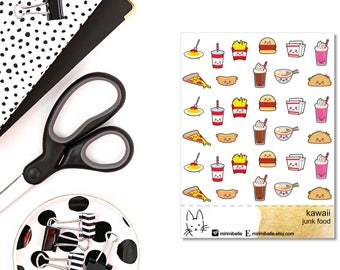 Kawaii Food Sticker II Planner Sticker II