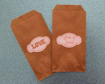 "Kraft paper bags Wedding Favor Bags ""Confettata"" and candybar"