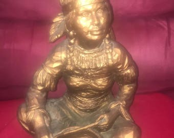 Univeral Statuary Native Americanfemalw statue with baby