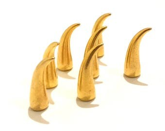 Gold Claw Spikes 21mm / Cat Claw Spikes / Studs and Spikes / Claw Spikes / Spikes / 21mm Spikes / Screw in Spikes / SET of SEVEN