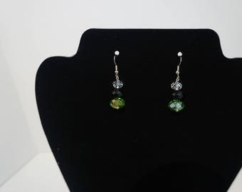 Multi-colored Glass Drop Earrings