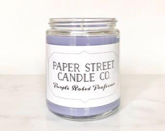 Purple Robed Professor | lemon sugar lavender candle | natural candle | fruit loop candle |