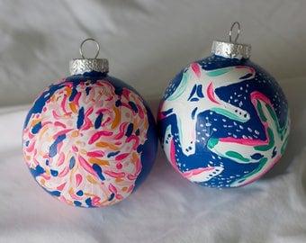 Blue Ornament Set 1