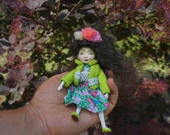 ooak little doll Gudrun