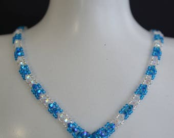 "Swarovksi crystal necklace ""Brook"""