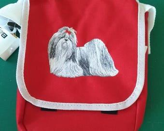 Shih-tzu Embroidered Shoulder bag/Purse