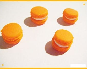 Fimo 4 badge 1 cm jewel gluttony candy cabochons