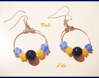 "Hoop earrings ""summer night"""
