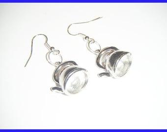 Kawaii earrings ❤ ❤ vet tea Teapot