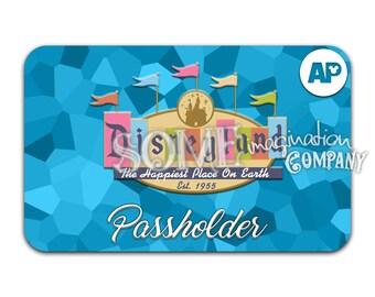 Vintage Disneyland Passholder Sticker