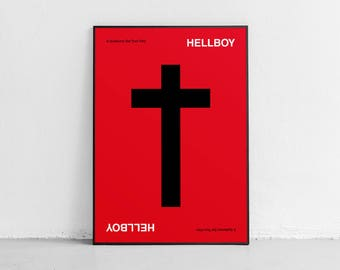 Hellboy. Fan art. Original poster. High quality giclée print. signed by designer.