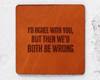 Xmas gift ideas for wife, Gag gift ideas, Gag gifts for husband, Couple gift ideas for Christmas, Furniture coasters set of leather coasters