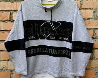 Rare!!! Ellesse Perugia Italia Casual Big Logo Pullover Sweatshirt
