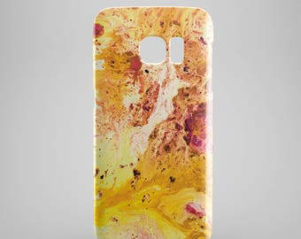 Fire Yellow Marble phone case for Samsung Galaxy S8, Samsung Galaxy S8 Plus, Samsung galaxy note 8, Samsung galaxy note 5, phone covers