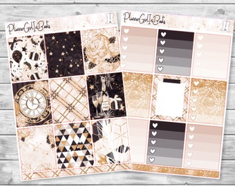 new year's eve planner sticker kit