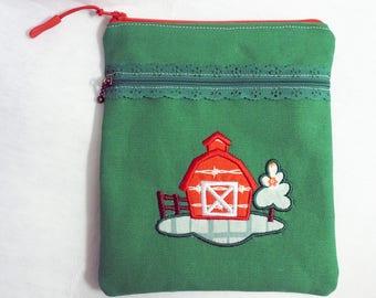 Barn Scene - Two Pocket Pouch - 8x6