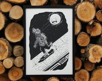 Moon Doom A2 Screenprinted Poster
