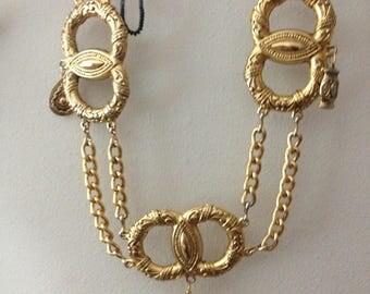 Golden Metal Belt CHic Romance like Infinity symbol and GRECIAn Roman Fashion Gold Belt