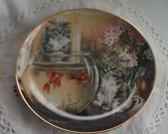 Cat Tales Limited Edition Collectors Plate by Lesley Hammett