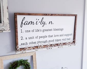 Family Sign | Family Quote Sign| Framed Sign | Wood Wall Art | Quote Sign Part 73