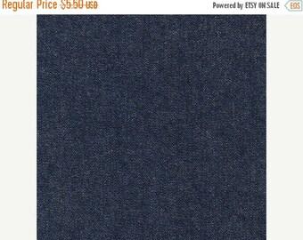 "20% Off Indigo Denim from Robert Kaufman Fabrics, Medium Weight for Summer Jeans, Pants, Skirts, and Jackets 8.0 Oz 100 Percent Cotton 56"" W"