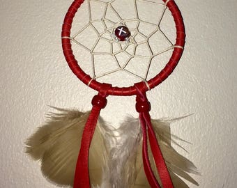 """Small """"Ruby Road"""" Red Dreamcatcher"""