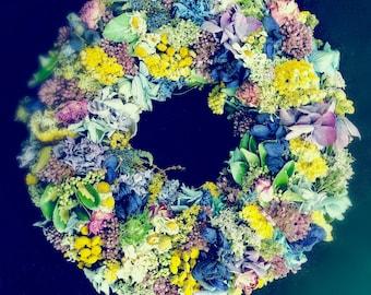 Dry flowers wreaths