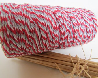 10 m string baker twine, string baker twine 2 mm - 100% cotton - 7 colors