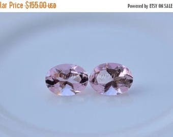 ON SALE Pink Tourmaline 8x6 MM Faceted Oval / Fine Pink Peach Color. Priced per piece.