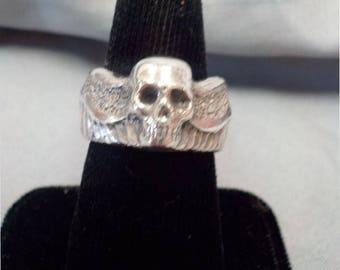 SS Winged Skull Ring