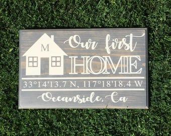 Custom New Home Sign