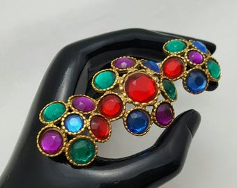 Colorful Jeweled Pin