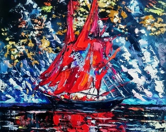 Scarlet sails in the evening