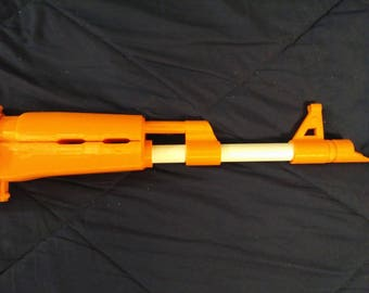 Classic AK-47 type 3, 3-D printed Nerf Barrel