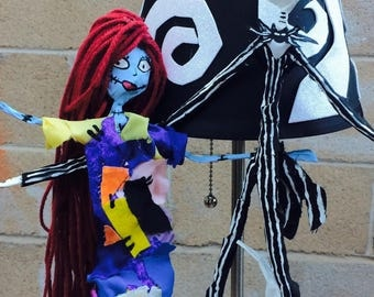 Nightmare before christmas jack & sally lamp