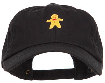 Gingerbread Man Embroidered Unstructured Cap