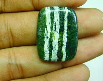24.15Cts fabulous green sugi opal cushion shape cabochone size 26x19x4mm superb gemstone