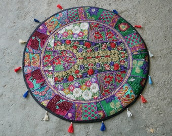 Round Table Cover, Mandala Runner Bohemian Tapestry, Hippie Home Decor,  Indian Tapestry Ethnic