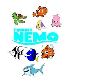 finding nemo svg, nemo svg, dory svg, Disney svg, Disney Nemo svg, Finding Nemo party, Finding Nemo Birthday, fish svg, Finding Dory svg