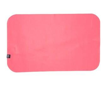 RASPBERRY Baby Change Mat-Vegan Leather-Faux Leather Change Pad Mat-Travel Changing Mat-Changing Mat-Diaper Bag Changing Pad-Go Mat-NursElet