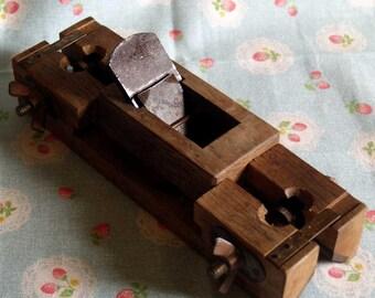 Vintage Japanese Woodworkibg Hand Plane Wooden Chamfer Angle 45 Corner Plane Mentori Kanna Corner carpentry