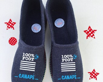 baby shoes slippers way, Navy Blue for the football fan