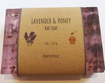 Lavender & Honey Natural Bar Soap