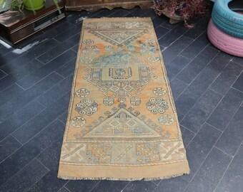 Aztec Rug, Bohemian Rug, Ethnic Rug, Faded Rug, Old Rug, Decorative Rug, Area Rug, Floor Rug, Anatolian Rug Free Shipping 2.5 x 6 No 1102