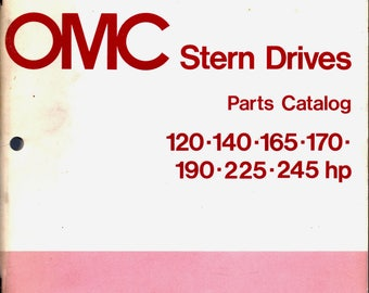 OMC 1976 Stern Drive Parts Catalog 120-140-165-175-190-225-235 HP Free Shipping