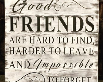 Best friends sign | shabby chic| farmhouse style | handpainted sign | 18x18 | family sign