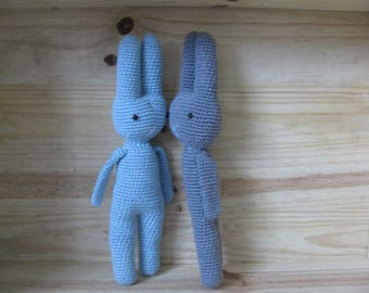 Rabbit made entirely handmade with 100% cotton yarn