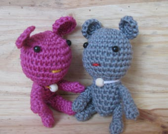 little mouse entirely hand-made crochet