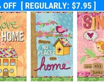 SALE! No Place Like Home - Panel - Red Rooster - Velvet Lime Girls